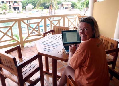 Jane Prowse writing in Belize
